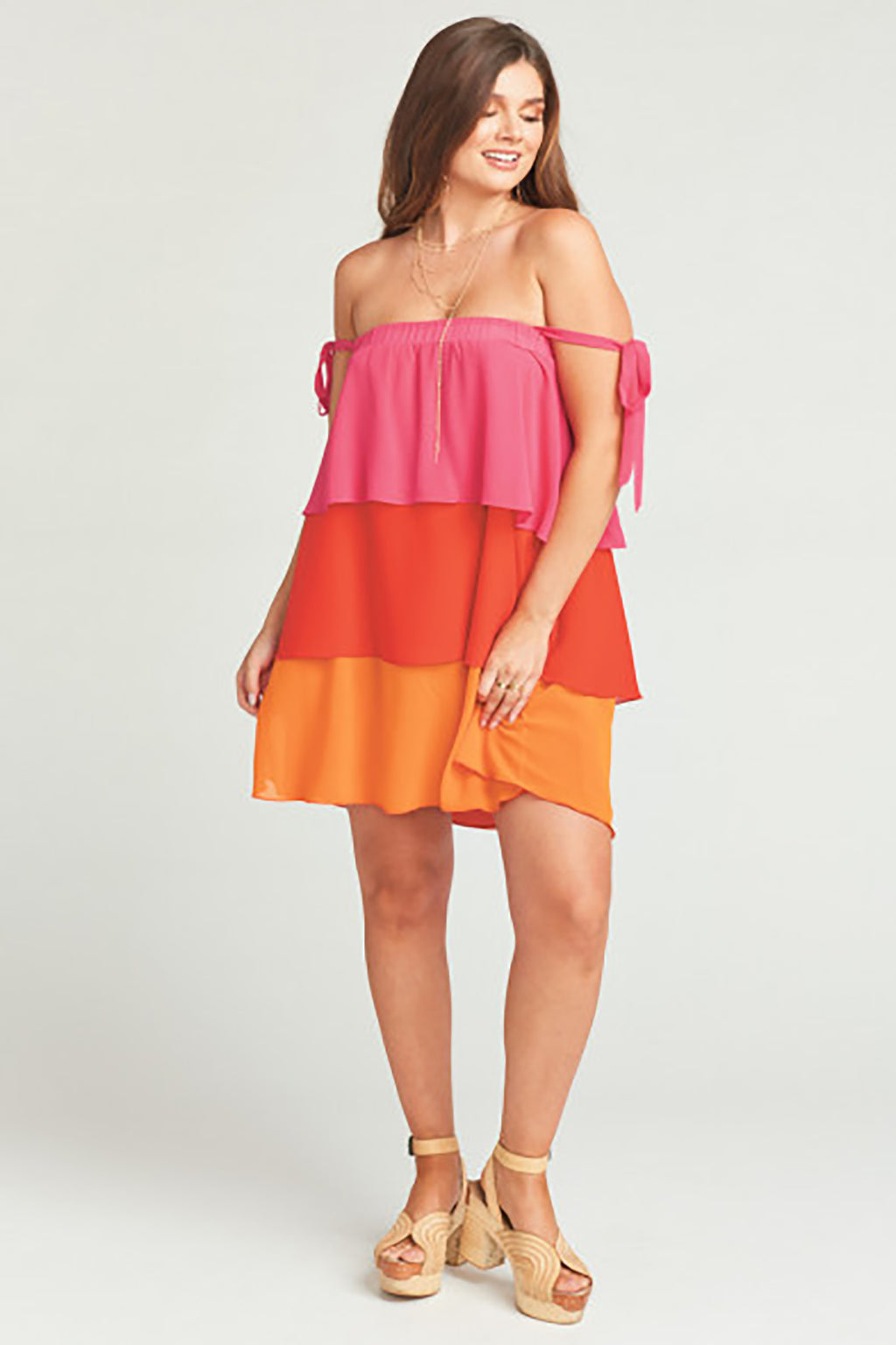 Gabriela Convertible Skirt Dress - Sunset Colorblock