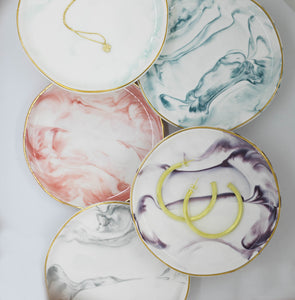 Marbled Small Bowl/ Plate Porcelain