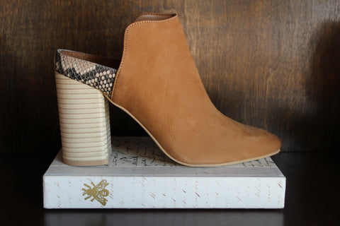 Renly Bootie - Tan Nubuck