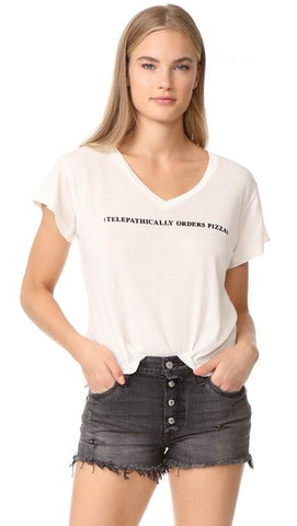 Wildfox Short Sleeve Graphic V Neck