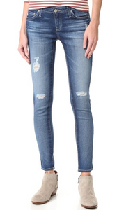 AG The Legging Ankle Distressed Swamp, Bottoms - shoplagreen.com