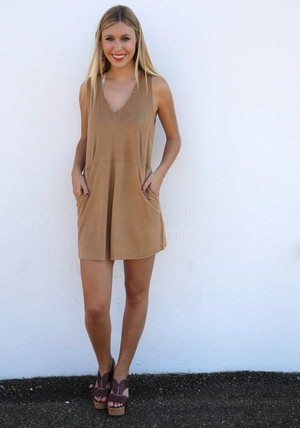 Suede Eliza Dress
