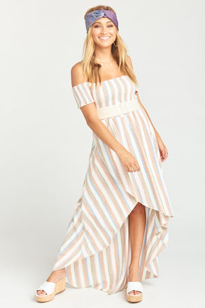 Willa Maxi Dress - Shorebert Stripe