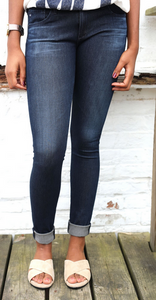 AG Knit Luxe Legging Denim Dark Wash, Bottoms - shoplagreen.com