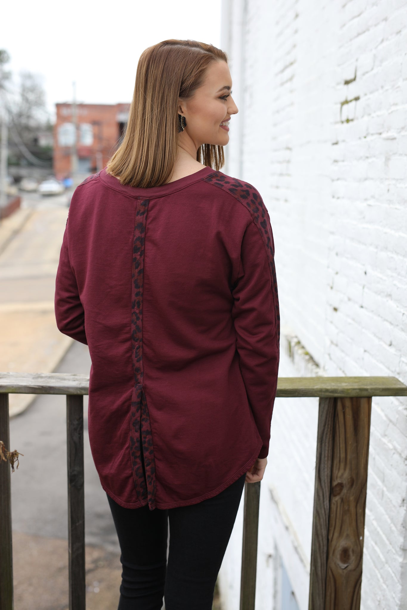 T-Back Flare Pullover
