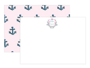 Sorority Watercolor Crest Notecards - Delta Gamma