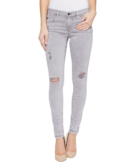AG The Legging Ankle Distressed Silver Ash, Bottoms - shoplagreen.com