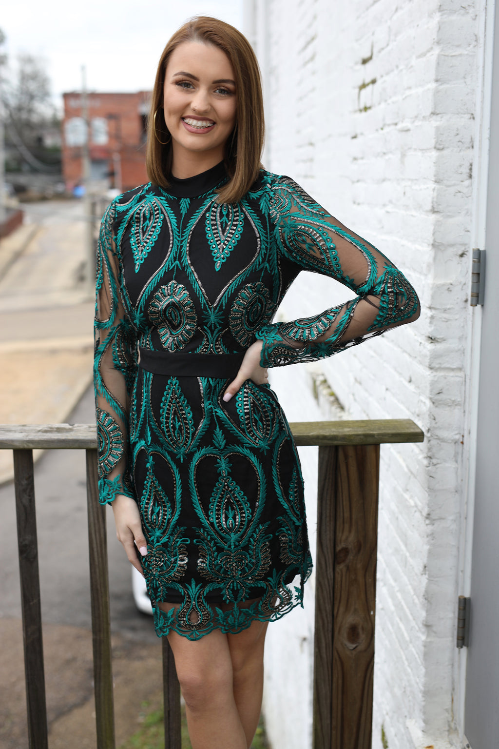 Always Festive Dress - Emerald