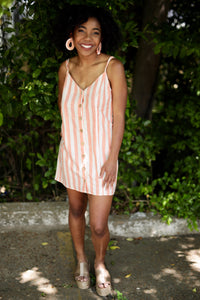Remington Dress - Dreamsicle Stripe Linen