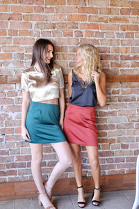 Roselle Skirt - Pine Green