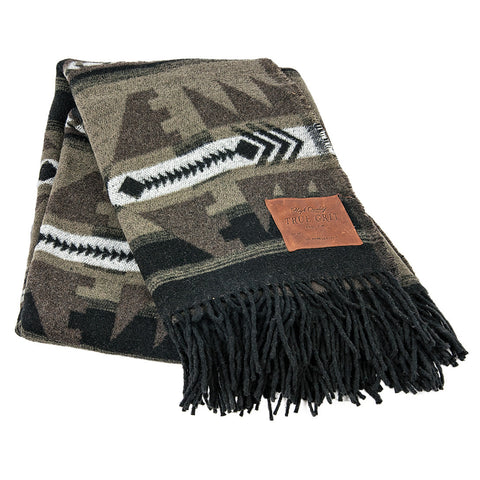 Taos Tribal Fringe Blanket