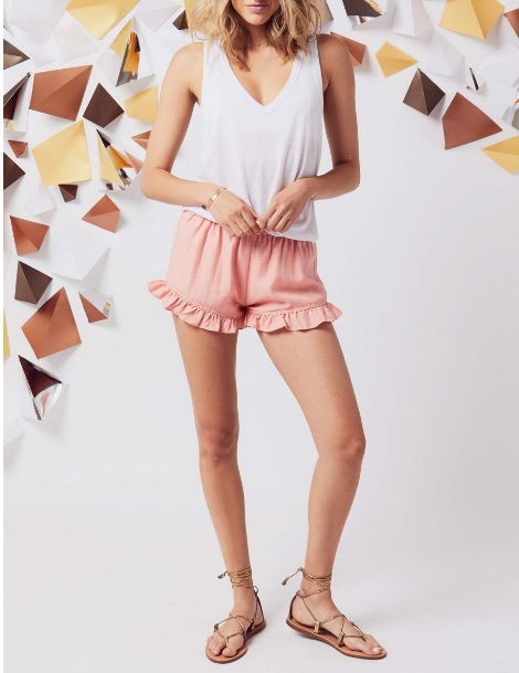 San Marco Beaded Ruffle Short