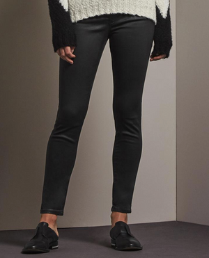 AG The Leatherette Legging Ankle VIntage Black, Bottoms - shoplagreen.com