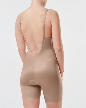Suit Your Fancy- Plunge Low Back Bodysuit