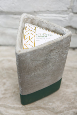 Paddywax Urban Concrete Triangle Pot Candle