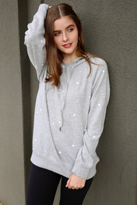 The Star Print Pullover - Heather Grey