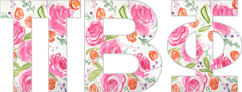 Floral Sorority Letters - Pi Beta Phi