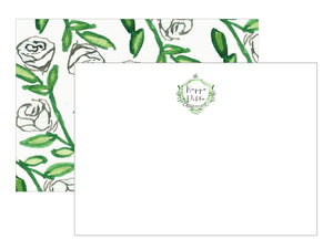 Sorority Watercolor Crest Notecards - Kappa Delta