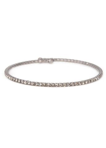 Theia Pewter Diamond Bangle