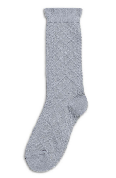 Hue Puckered Boot Sock  Gris