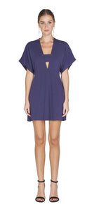 Kelsey Woven Shift Dress - Navy