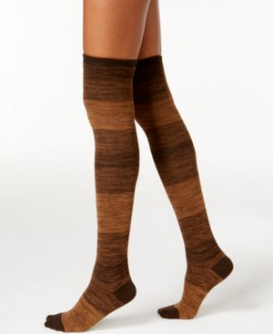 41240fa16 Hue Ribbed Ombre Over the Knee Socks Espresso – L.A. Green