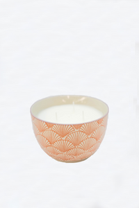 Paddywax Boheme 12.5oz Hand Painted Bowl Candle - Pink Pepper & Pomelo