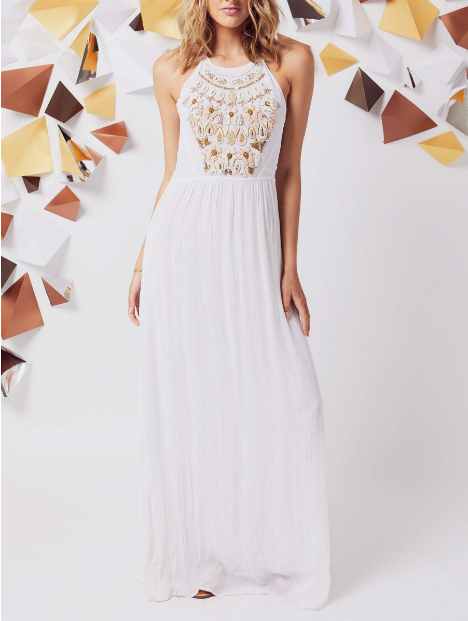 Amalfi Beaded Maxi Dress, Dress Shop - shoplagreen.com
