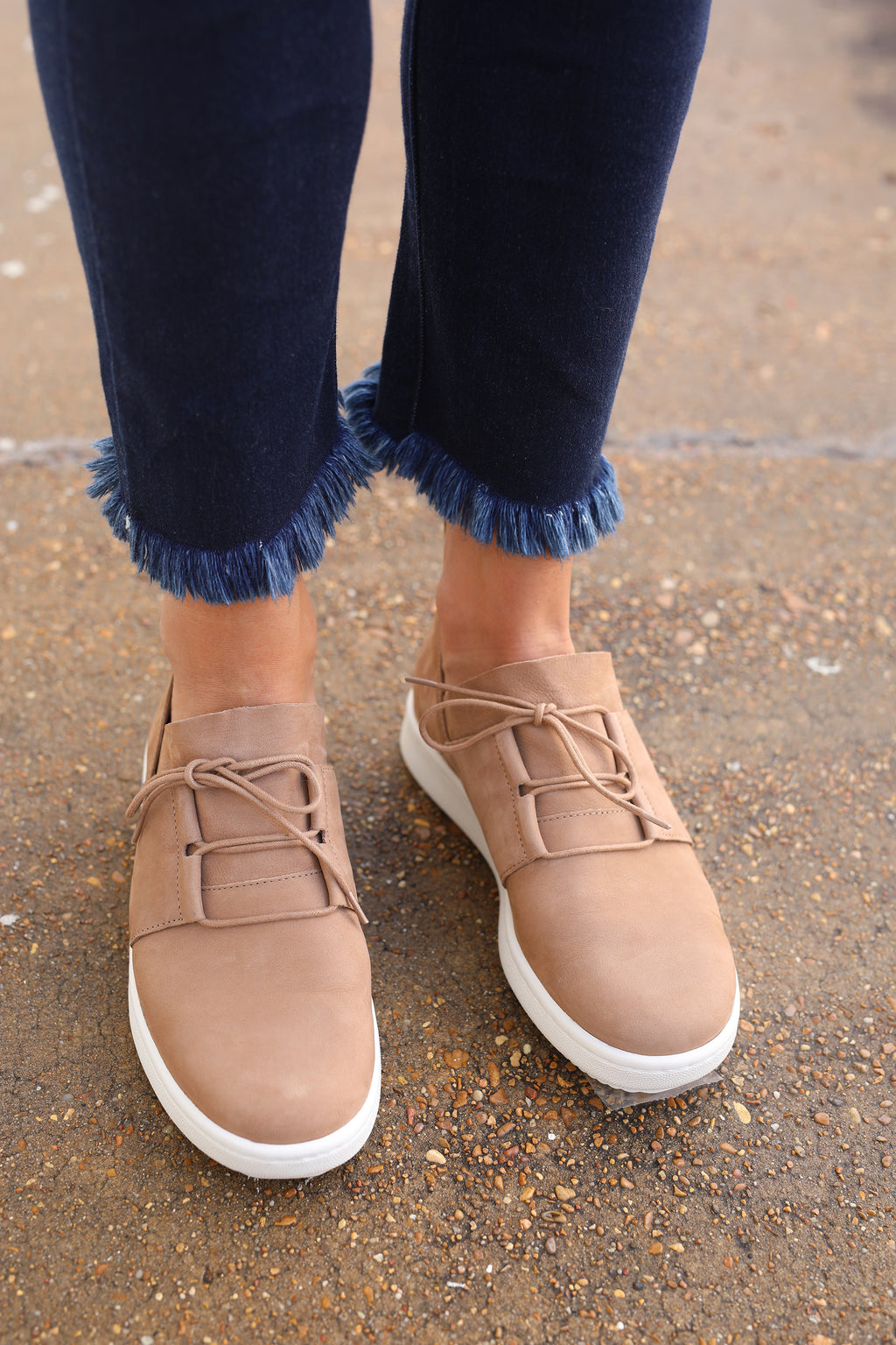 Eileen Fisher Kipling Sneaker - Wheat Nubuck