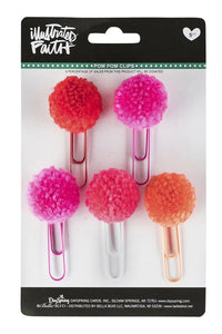 Fun Faith PomPom Paper Clips - Pack of 5