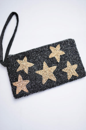 Moyna Beaded Cosmetic Pouch with STARS