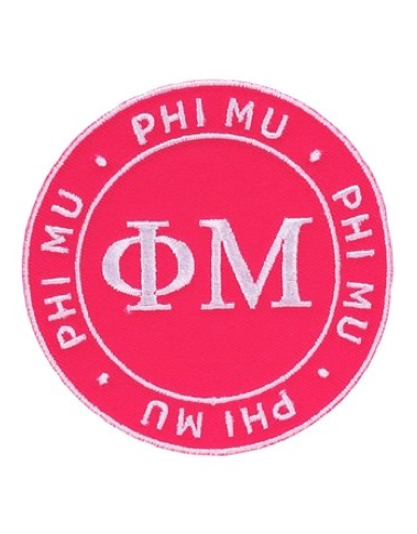 Peel & Stick Patch Phi Mu, Sorority - Phi Mu - shoplagreen.com