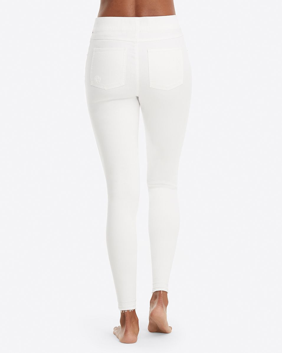 Spanx Distressed Denim Legging - White