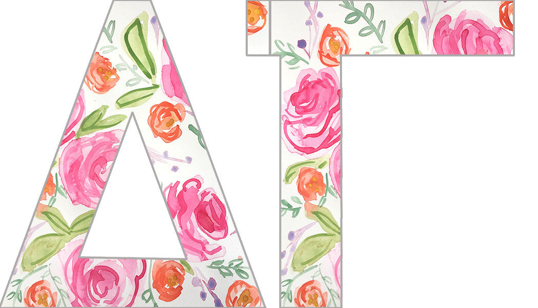 Floral Sorority Letters - Delta Gamma
