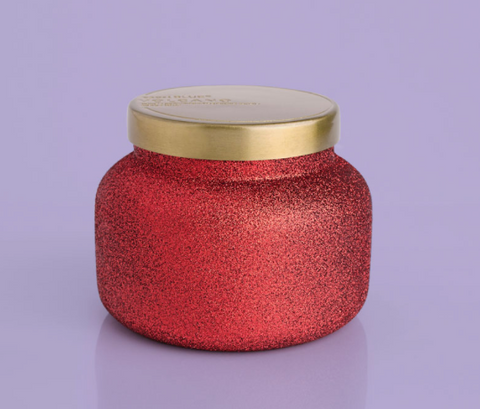 Volcano 19oz Red Glitter Signature Jar