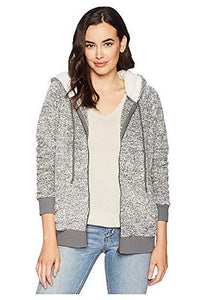 Sweater Fleece Zip Jacket - Charcoal