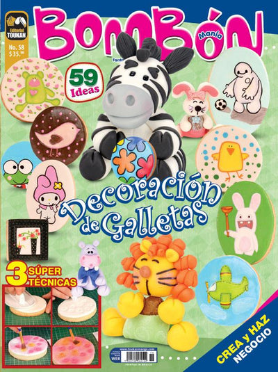 Bombonmania 58 - Decoración de Galletas - Formato Digital - ToukanMango