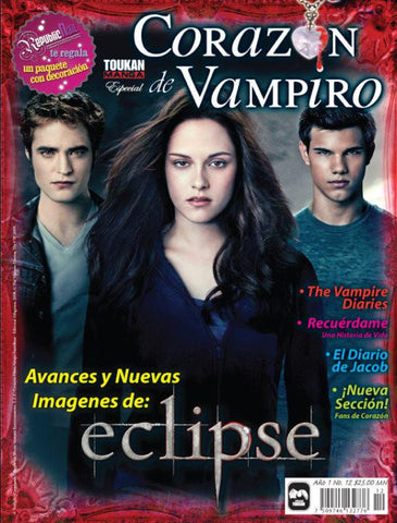Revista Corazon de Vampiro no. 12 - Avances de Eclipse - Formato Impreso