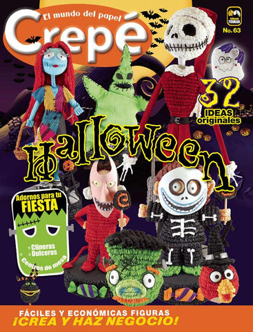 Revista El mundo del papel Crepe no. 63 - Halloween - - Formato Digital