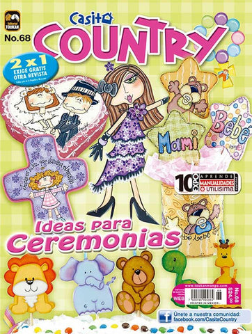 Revista Casita Country no. 68 - Ideas para ceremonias - Formato Impreso