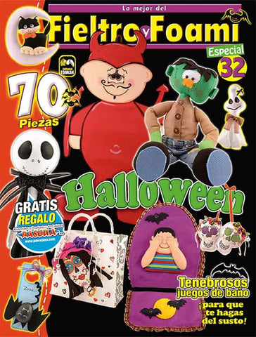 Revista Fieltro y Foami no. 32 - Halloween - Formato Digital