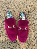 Fushia Velvet Loafers IN STOCK NOW