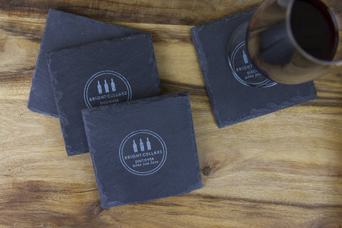 Slate Wine Wednesday Coasters