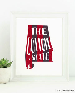 Alabama Cotton State Art Print