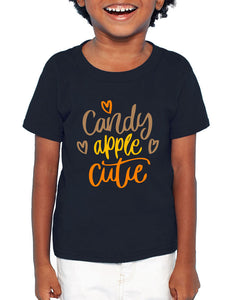 Candy Apple Cutie Fall Kids Short Sleeve T-Shirt