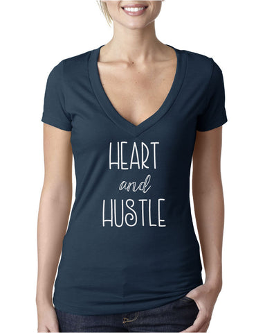 Heart and Hustle Women's V-Neck T-shirt