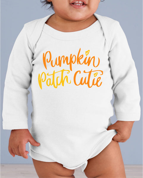 Pumpkin Patch Cutie Infant Long Sleeve Bodysuit