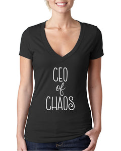 CEO of Chaos Women's V-Neck T-shirt
