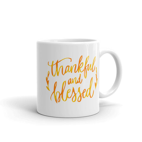Thankful and Blessed Seasonal 11oz Coffee Mug