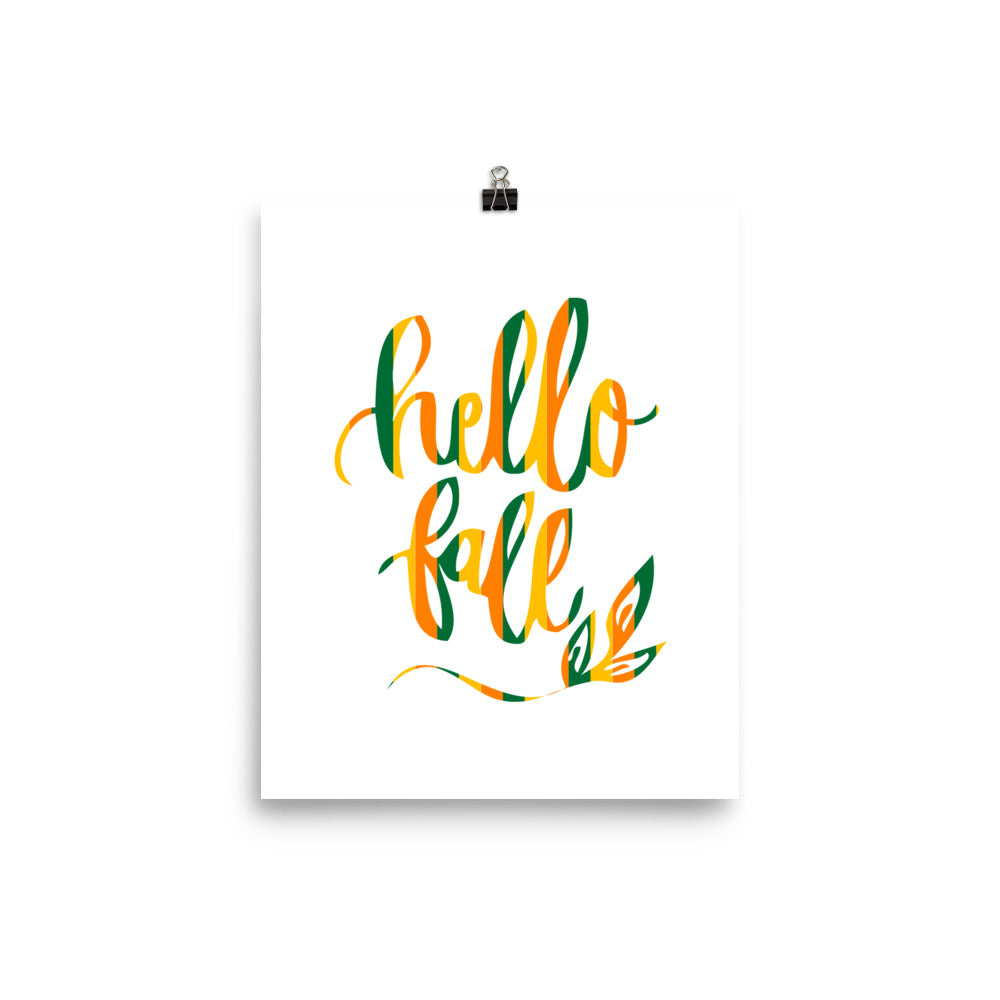Hello Fall seasonal Art Print